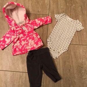 Carter's fleece winter newborn outfit